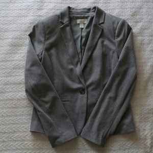 Ann Taylor LOFT Gray Blazer Size Small